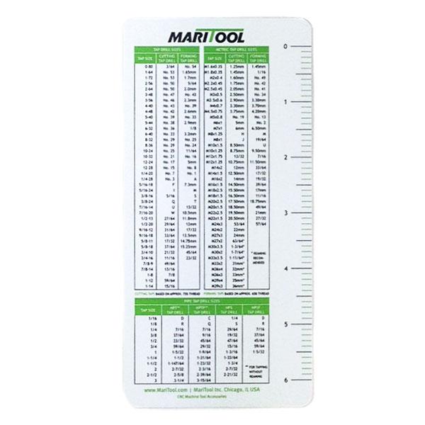 Maritool Drill Tap Charts - One Dozen Maritool