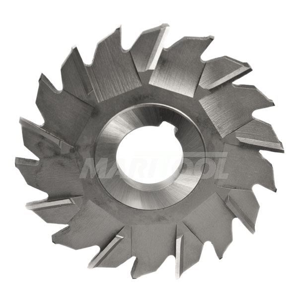 15//16 Width of Face High Speed Steel 10 Diameter F/&D Tool Company 11350-A8031 Staggered Tooth Side Milling Cutter 1.5 Hole Size