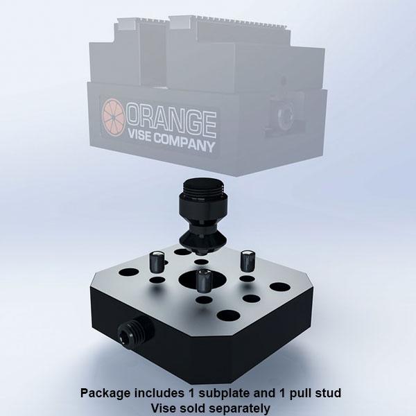 Subcompact Zero-Point Subplate - Haas HRT210/HRT160 - Orange
